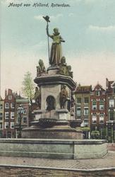PBK-4898 Het monument Maagd van Holland aan de Nieuwemarkt, uit het westen gezien.