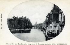 PBK-491 Binnenrotte, vanaf de Boerenvischmarkt uit het zuiden. Rechts de achterzijde van de huizen aan de 1ste ...