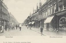PBK-4934 Noordmolenstraat, vanuit het oosten. De zijstraat in het midden is de Tollensstraat.