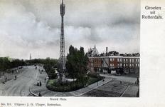 PBK-4943 Noordplein vanuit het westen. Op de achtergrond de toren van Redemptoristenkerk aan de Goudse Rijweg