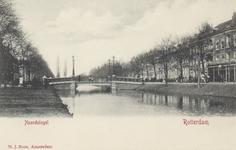 PBK-4966 Noordsingel met op de achtergrond de Zomerhofbrug, vanaf de Hofdijk.