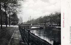 PBK-4967 Noordsingel met de Zomerhofbrug.