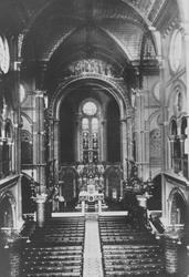 PBK-5016 Het interieur van de Kerk van het Allerheiligst Hart van Jezus (Oldekerk) aan de Van Oldenbarneveltstraat, ...