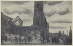 PBK-5018 Gezicht in de door het Duitse bombardement van 14 mei 1940 getroffen Oldekerk ( Kerk van het Allerheiligst ...