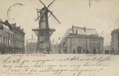 PBK-5149 Oostplein met molen De Noord, uit het zuiden gezien.
