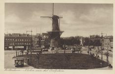 PBK-5157 Oostplein met molen De Noord. Links de Hoogstraat, daarna het Achterklooster en rechts de Goudsesingel, uit ...