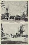 PBK-5180 Twee afbeeldingen van het Oostplein hoek Nieuwehaven van voor en na het bombardement van 14 mei 1940 één ...
