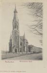 PBK-5262 De Wilhelminakerk aan de Oranjeboomstraat gezien uit het noordwesten. Links de Persoonsstraat.