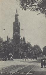 PBK-5265 Schuilkelder voor de Wilhelminakerk aan de Oranjeboomstraat, uit het noordwesten gezien.