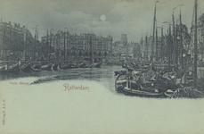 PBK-5312 Overzicht van de Oudehaven, vanuit het zuiden. Op de achtergrond Plan C. Links de Geldersekade en rechts de ...