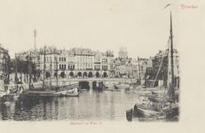 PBK-5319 Oudehaven, uit het zuiden, in de richting van Plan C aan de Oudehavenkade. Links de Geldersekade en rechts de ...