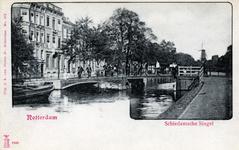 PBK-532 Gezicht op de Schiedamsesingel. Links panden aan de westzijde van de Schiedamsevest.Ter hoogte van de Witte de ...