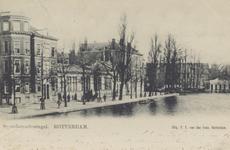 PBK-534 Gezicht op de Schiedamsesingel uit het zuiden. Het lage gebouw, links in het midden op nummer 2, is de ...