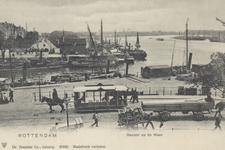 PBK-5362 Gezicht op het Bolwerk. Op de achtergrond de mond van de Oudehaven, het Oudehoofdplein en de Oosterkade met ...