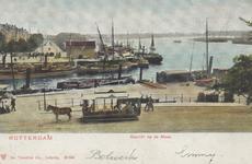 PBK-5363 Gezicht op het Bolwerk. Op de achtergrond de mond van de Oudehaven, het Oudehoofdplein en de Oosterkade met ...