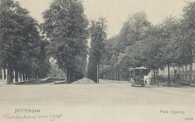 PBK-5552 Paardentram aan de Parklaan, bij de ingang van het Park.