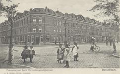 PBK-5654 Gezicht in de Persoonsstraat rechts en links de Steven Hogendijkstraat, vanaf de Oranjeboomstraat.