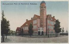PBK-5657 De Hogere Zeevaartsschool aan de Pieter de Hoochweg, uit het zuidoosten gezien.