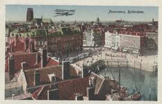 PBK-5701 Overzicht van Plan C, de Oudehaven, de Hoofdsteeg, de Mosseltrap en de toren van de Sint-Laurenskerk, vanaf ...