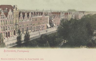 PBK-5733 De westzijde van de Plantageweg, de latere Dr. Zamenhofstraat in de richting van de Oudedijk.