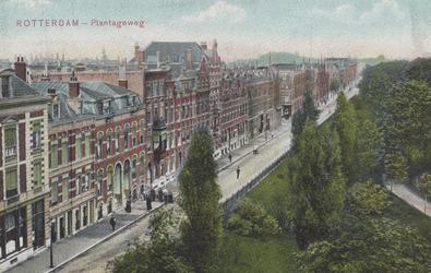 PBK-5734 De westzijde van de Plantageweg, de latere Dr. Zamenhofstraat vanaf de Oostzeedijk, in de richting van de ...