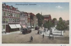PBK-5778 Pompenburgsingel, gezien uit het westen. Op de achtergrond de rooms-katholieke Boschjeskerk aan het Boschje.