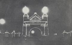 PBK-5787 Feestverlichting op het Prinsenhoofd ter gelegenheid van de Onafhankelijkheidsfeesten van 17 november 1913.