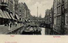 PBK-584 Steigersgracht gezien uit het westen vanaf de Weezenbrug in de richting van de Grotemarkt. De straat links heet ...