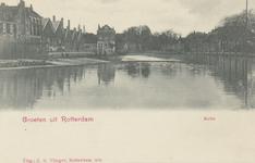 PBK-5968 De Rotte, vanuit het zuiden, in de richting van Hillegersberg, rechts Crooswijk ter hoogte van het ...
