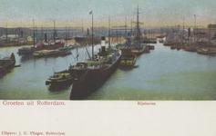PBK-5990 Stoom- en zeilschepen voor overslag van goederen in de Rijnhaven.