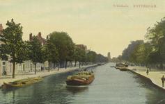 PBK-6271 Gezicht op de Rotterdamse Schie en de Schiekade, vanaf de Heulbrug, uit het noorden.