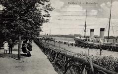 PBK-631 Gezicht op de Nieuwe Maas vanaf de heuvel in het Park gelegen tussen de Westzeedijk en de Parkkade.
