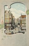 PBK-6384 Doorkijk in de Sint Jacobstraat vanuit het huis aan de Westewagenstraat nummer 1, over de Raambrug en de ...