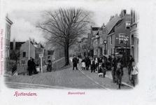 PBK-642 Het punt waar de Nieuwe Binnenweg op de Havenstraat uitkomt. Geheel rechts het begin van de Voorstraat. Links ...