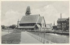 PBK-6564 De Nederlandse Hervormde Prinsekerk aan de Schepenstraat, vanuit het westen. Rechts, boven de daken van de ...