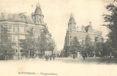 PBK-6606 Stationsplein, in het midden de Delftsestraat.