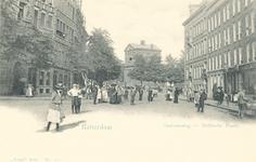PBK-6638 Diergaardelaan, links is de Stationsweg. Op de achtergrond de Delftse Poort.
