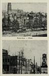 PBK-667 Afbeeldingen van voor en na bombardement van 14 mei 1940. Gezicht op de Noordblaak.