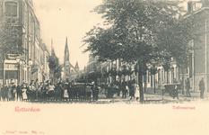 PBK-6828 Tollensstraat, uit het zuidwesten. Vanaf de Noordsingel gezien. Op de achtergrond de gereformeerde Nieuwe ...