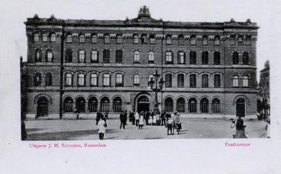 PBK-690 Het postkantoor op het Beursplein gezien uit het oosten.