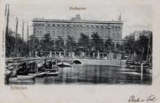 PBK-693 Gezicht op de Blaak. Op de achtergrond het postkantoor aan het Beursplein, uit het westen.