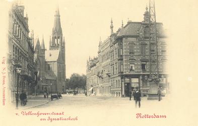 PBK-6986 Aan het eind van de Van Vollenhovenstraat staat de aan Sint-Ignatius gewijde Jezuïetenkerk, later een ...