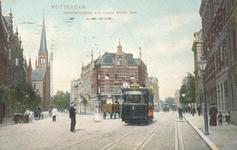 PBK-6988 Van Vollenhovenstraat, aan het eind van de straat de aan Sint-Ignatius gewijde Jezuïetenkerk, later een ...