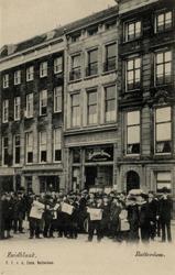 PBK-702 Het kantoorgebouw van het Rotterdams Nieuwblad aan de Zuidblaak..