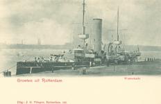 PBK-7097 Oorlogsschip aan de Westerkade.