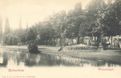 PBK-7158 De Westersingel en rechts de Mauritsweg.