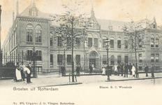 PBK-7217 Het rooms-katholieke wees- en armhuis Huize Simeon & Anna aan de West-Kruiskade uit 1902, vanaf 1972 onderdeel ...