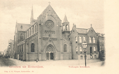 PBK-7221 De katholieke Sint-Josephkerk op de hoek van de West-Kruiskade en Sint Mariastraat, het in 1968 voor de ...