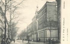 PBK-7351 Het gebouw van de Hogere Burger School voor meisjes, gebouwd in 1873, op de hoek van de Witte de Withstraat en ...