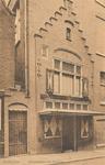 PBK-7545 Reconstructie van het geboortehuis van de wijsgeer Erasmus van Rotterdam, in de Wijde Kerksteeg.